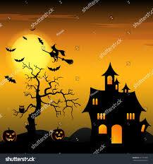 halloween witch background halloween night background witch pumpkins stock vector 211311868