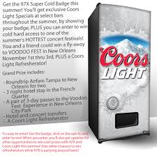 coors light refresherator manual 97x super cold badge 97x