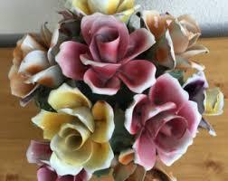 capodimonte roses vintage capodimonte etsy