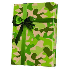 camo gift wrap masculine gift wrap shamrock masculine gift wrapping paper