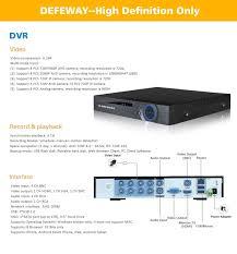 defeway 8ch 1080n hdmi dvr 1200tvl 720p hd outdoor security camera