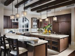 Kitchen Can Lights Kitchen Exposed Beam Ceiling With Recessed Lights And Square Glass