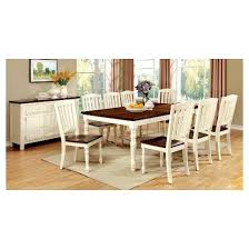 Vintage Oak Dining Chairs Sun U0026 Pine 9pc Cottage Style Dining Table Set Wood Vintage White