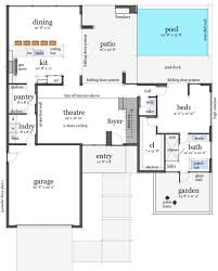 small house plans with pool 6113