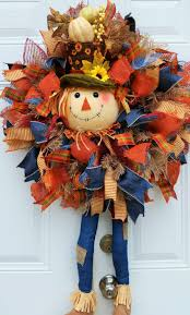 thanksgiving wreaths diy scarecrow wreath fall wreath fall door by studiowhimsybybabs