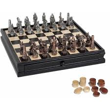 fantasy chess set fantasy chess and checkers game set pewter chessmen and black