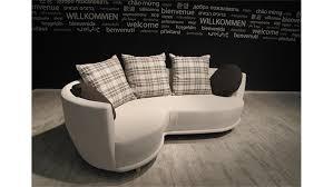 couch mit hocker sonia beige mit hocker und kissen braun 220cm breit