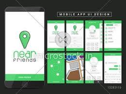 map login material design ui ux gui screens for find mobile apps