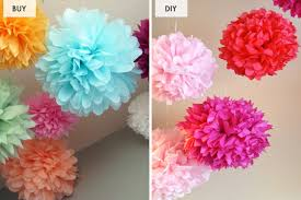 where to buy tissue paper buy or diy tissue paper pom poms brit co party planning