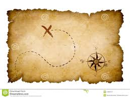 treasure map treasure map isolated stock photo image 35768430