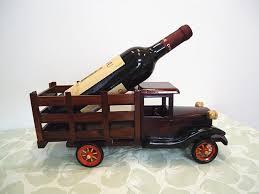 truck wooden wine racks personalized ornaments tabletop wine rack
