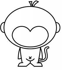 easy to draw monkey draw curious george how to draw monkey youtube