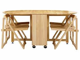 Folding Dining Table With Chair Storage Beautiful Folding Dining Table And Chairs Set Photos Concept