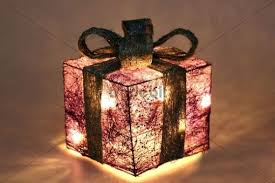 lighted decoration led lighting gift box pic