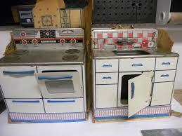 Vintage 1950 S Metal Kitchen Cabinet Enamel Top Ebay by Vintage Wolverine Toy Company Metal Kitchen Sink And Stove Set