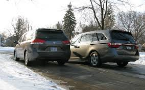 honda odyssey toyota 2011 honda odyssey vs 2011 toyota comparison truck trend
