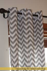 Chevron Style Curtains Splendid White And Grey Chevron Curtains Decorating With Best 25