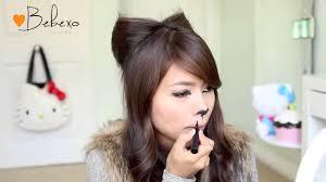 bebexo diy halloween costume ideas bear and cat ears hairstyle