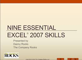 video training for ms excel 2007 specialist examination