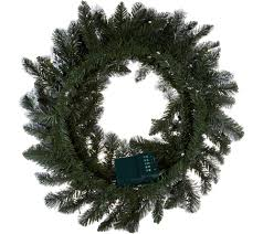 bethlehem lights prelit 24 flocked wreath page 1 qvc