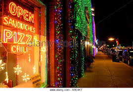 restaurant window christmas lights stock photos u0026 restaurant