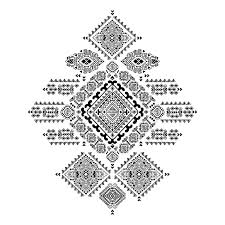 yoga tattoo pictures geometric aztec pattern tribal tattoo style can be used for textile