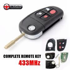 lexus key fob uk 4 button fold flip remote key fob blade 433mhz for jaguar xj xjr