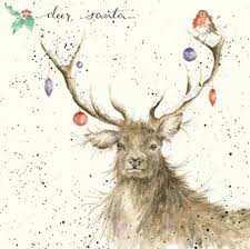 cards with deer on them chrismast cards ideas