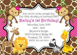 Free First Birthday Invitation Cards Jungle Themed 1st Birthday Invitations Safari Themed First