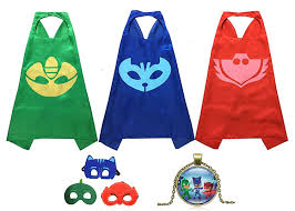 pj mask halloween costumes amazon com masks costumes set of 3 catboy owlette gekko mask with