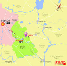 Moscow On Map Day Trip To Suzdal From Moscow Transport Sights Maps And Tips