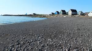 where is the black sand beach greenland u0027s disko island has a beach you can ski on cnn travel