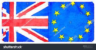 Painting A Flag Digital Watercolour Painting British European Flags Stock
