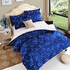 Adairs Bedding Constellation Duvet Cover Adairs Navy Blue White Gold