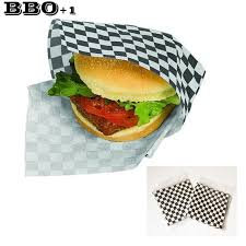 cheeseburger wrapping paper 2018 hot black sandwich wrapping paper checkered wax liners
