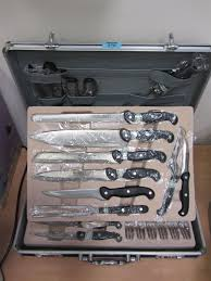 set of berghaus kitchen knives with steak knives and forks in