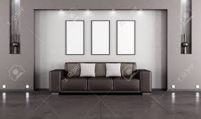 contemporary living room with sofa and niche rendering stock contemporary living room with sofa and niche rendering stock photo 28915803