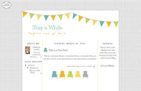 stay awhile blogspot template the cutest blog on the block