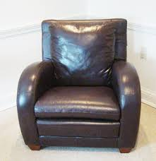 Leather Club Chair Interline Italia Leather Club Chair Ebth