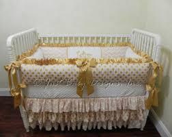 Miniature Crib Bedding Gold Crib Bedding Etsy
