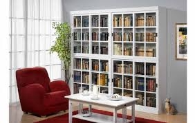 Small Red Bookcase Furniture Home Antique White Bookcase With Glass Doors Small
