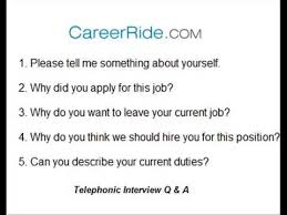 How To Answer Resume Questions Questions U0026 Answers To A Telephonic Interview Youtube