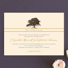 tree wedding invitations oak tree wedding invitations by clark minted