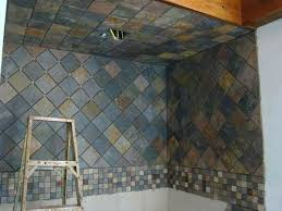 Slate Tile Bathroom Shower Slate Tile Bathroom Black Slate Slate Versus Porcelain Tile Floor