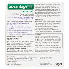 advantage ii flea u0026 tick treatment for large cats 4 doses