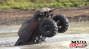 monster truck in mud videos killer cummins diesel mud truck tears apart the terrain
