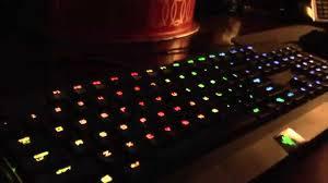razer blackwidow chroma lights not working my razer blackwidow chroma light up keyboard youtube