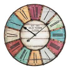 Horloge Cuisine Rouge by Tfa Dostmann Tfa 60 3021 Vintage Xxl Design Horloge Murale Amazon