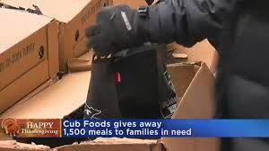 Cub Foods Hours Thanksgiving Cub Foods Gives Away Thanksgiving Meals To Families In Need Wcco