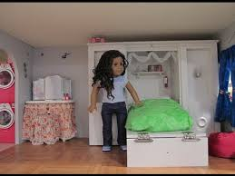 Dollhouse Bed For Girls by American Doll House Tour Update Also A Trash Can Craft Idea